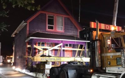 Construction Update: Moving the Coulter House