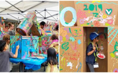 HOUSS Helps Bring Cardboard City to Life at the Vancouver Mural Festival